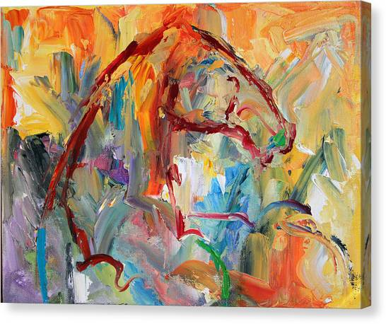 Canvas Print - Windstorm  Horse  28 2014 by Laurie Pace