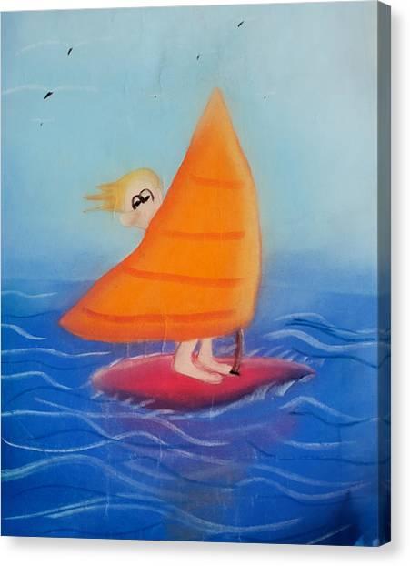 Windsurfer Dude Canvas Print