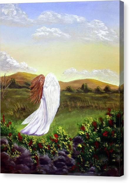 Windswept Angel Canvas Print