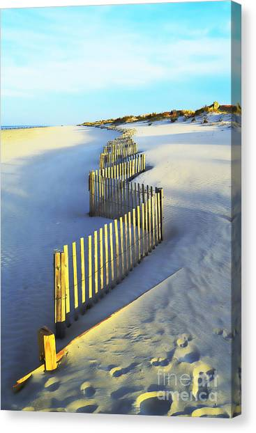 Windswept At Sunset - Jersey Shore Canvas Print