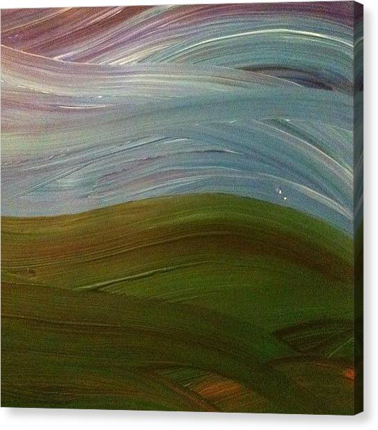 Expressionism Canvas Print - Windy Day by Stephen Lock