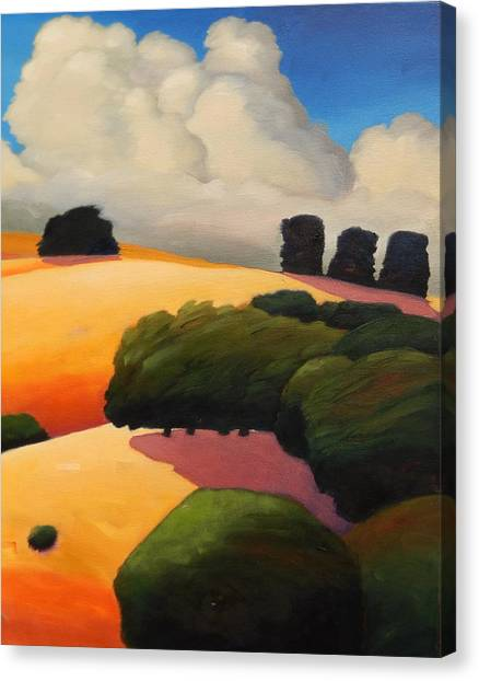Windy Hill Triptych Revisit Panel Three Canvas Print