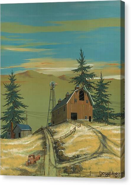 Windy Knoll Canvas Print by John Wyckoff