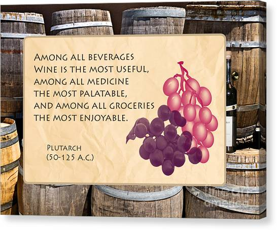Wine - Best Medicine Canvas Print