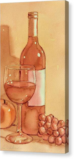 Wine And Sunshine Two Canvas Print