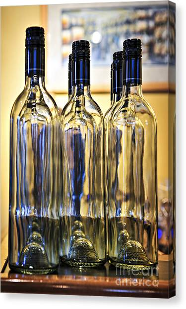 Counter Canvas Print - Wine Bottles by Elena Elisseeva