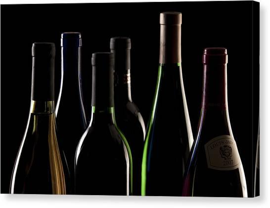 Rim Canvas Print - Wine Bottles by Tom Mc Nemar