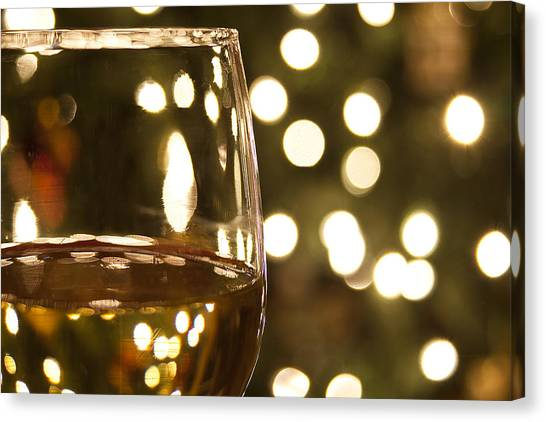 White Wine Canvas Print - Wine By The Lights by Andrew Soundarajan