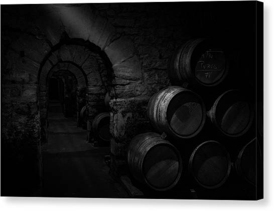 Winery Canvas Print - Wine Cellar by Martin Zalba