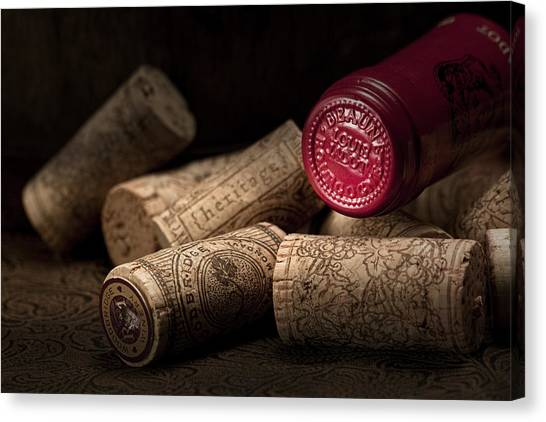 Wine Corks Still Life Iv Canvas Print