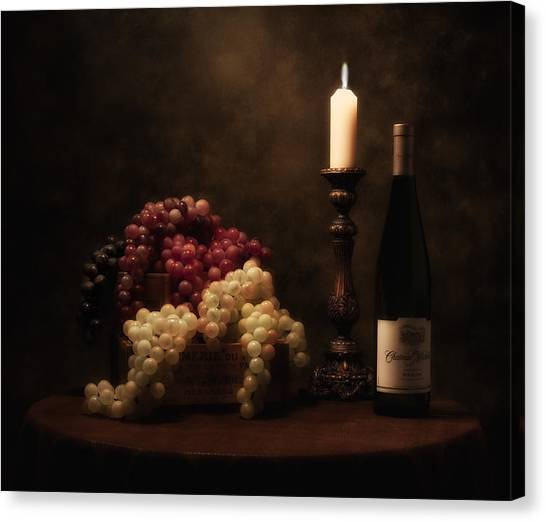 Flames Canvas Print - Wine Harvest Still Life by Tom Mc Nemar