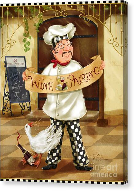 Wine Pairing Chef Canvas Print