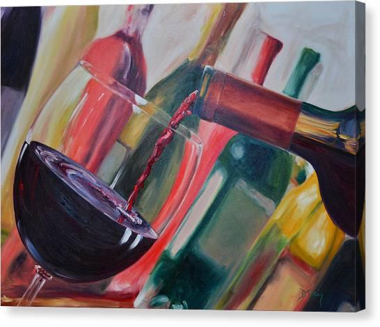 Wine Pour IIi Canvas Print