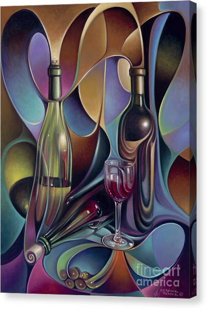 Wine Spirits Canvas Print