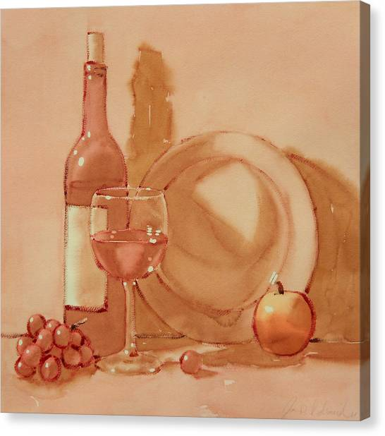 Wine Still Life Canvas Print by Joe Schneider