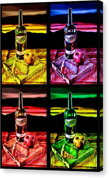 Wine X 4 Canvas Print