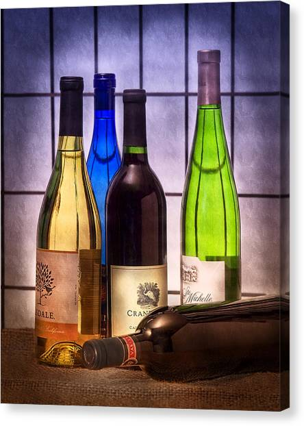 White Wine Canvas Print - Wines by Tom Mc Nemar
