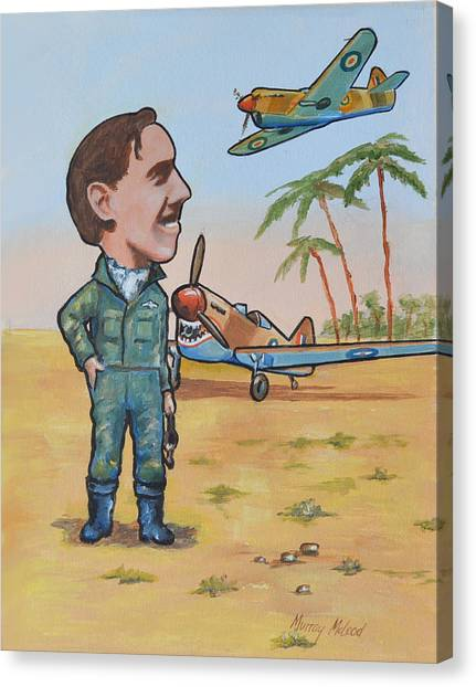 Wing Cdr.clive Caldwell Canvas Print