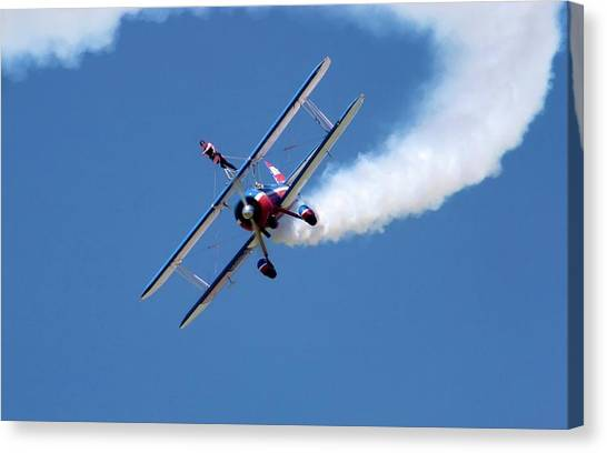 National Guard Canvas Print - Wing-walking Display by Jim West