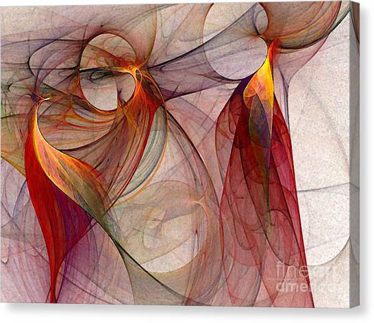 Subtle Canvas Print - Winged-abstract Art by Karin Kuhlmann