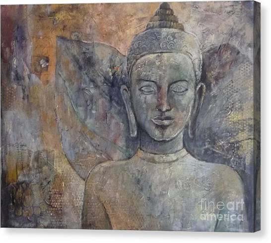 Winged Buddha Canvas Print by Paulina Garoa