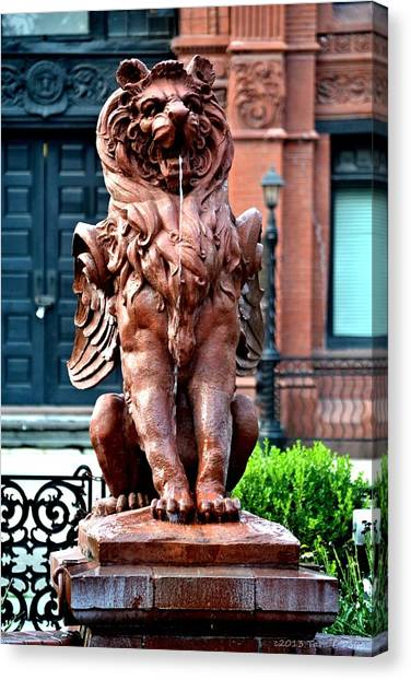 Winged Lion Fountain Canvas Print