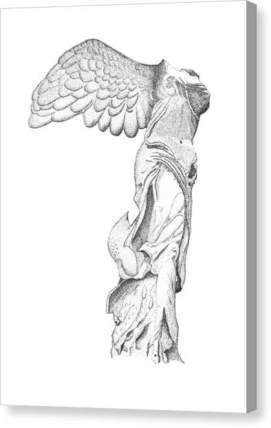 Winged Victory Of Samothrace Canvas Print by Steven Tomadakis
