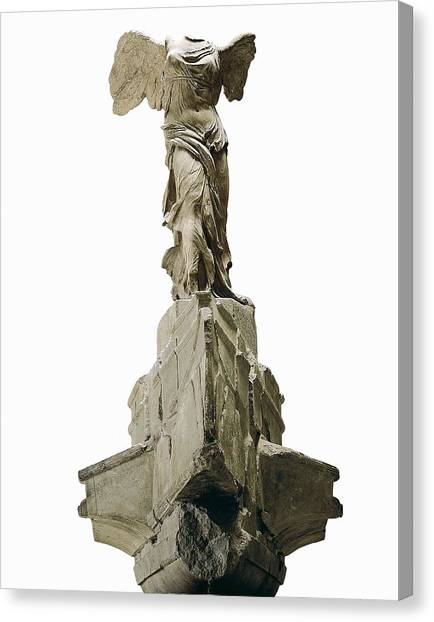 Hellenistic Art Canvas Print - Wingel Victory Of Samothrace Or Nike by Everett