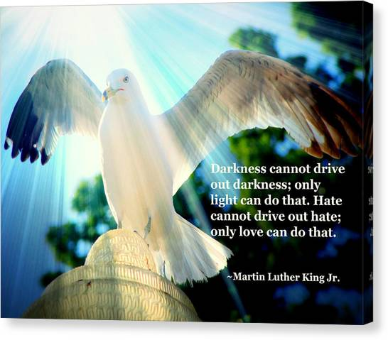 Wings Of Freedom Illuminated With Martin Luther King Jr. Quote II Canvas Print