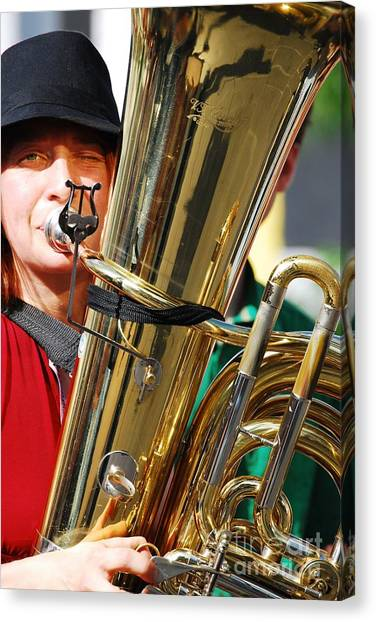 Winking Musician Canvas Print by Susan Hernandez
