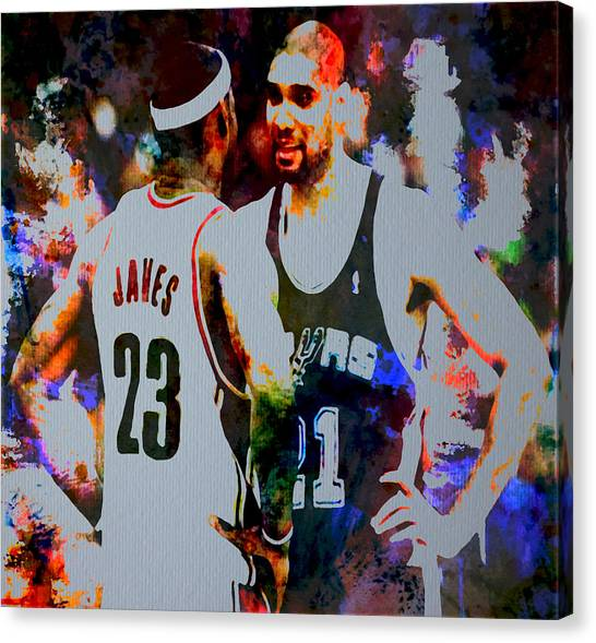 San Antonio Spurs Canvas Print - Winners by Brian Reaves
