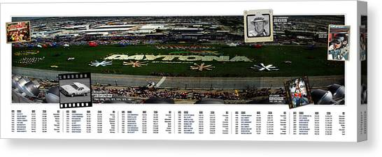 Finish Line Canvas Print - Winners Of The Daytona 500 by Retro Images Archive