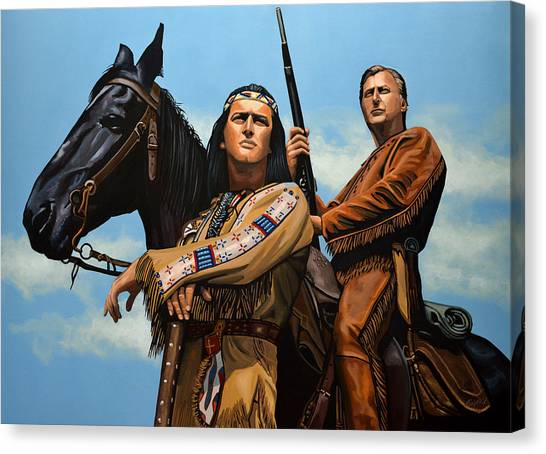 Buffalo Bills Canvas Print - Winnetou And Old Shatterhand by Paul Meijering