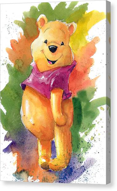 The Canvas Print - Winnie The Pooh by Andrew Fling