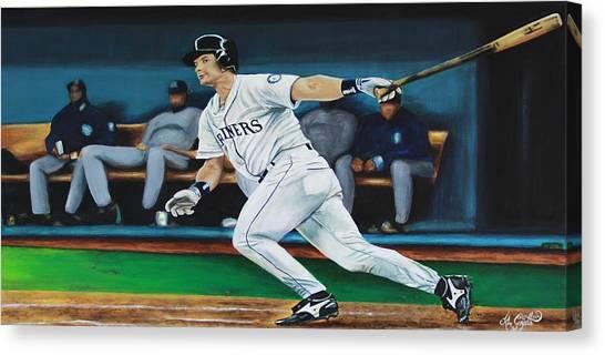 Seattle Mariners Canvas Print - Winning Double by Kimberlee Goyette
