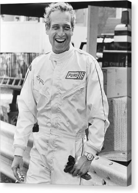 Racecar Drivers Canvas Print - Winning, Paul Newman, 1969 by Everett