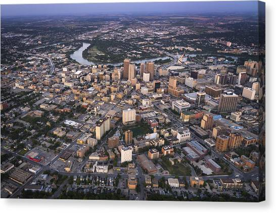 Manitoba Canvas Print - Winnipeg From The Sky by Bryan Scott
