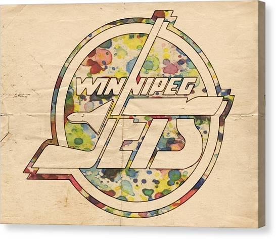 Winnipeg Jets Canvas Print - Winnipeg Jets Hockey Art by Florian Rodarte
