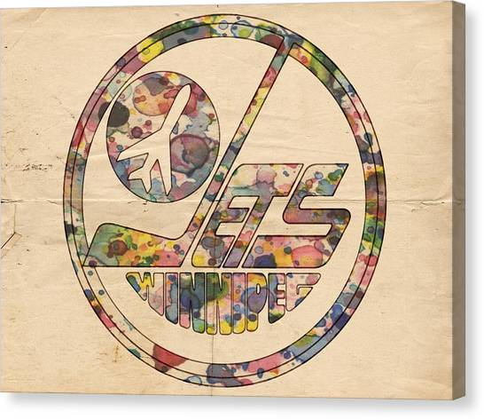 Winnipeg Jets Canvas Print - Winnipeg Jets Hockey Poster by Florian Rodarte