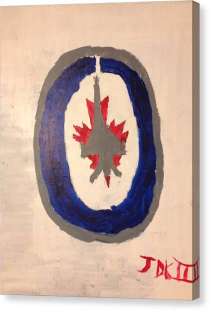 Winnipeg Jets Canvas Print - Winnipeg Jets Logo by Jimmy Kilgus