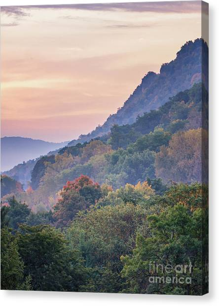Canvas Print featuring the photograph Winona Fall Colors Slopes II by Kari Yearous