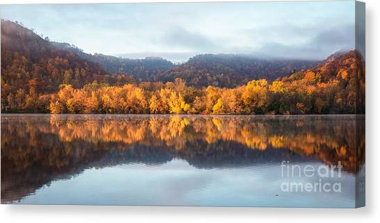 Winona Mn Fall Colors Panorama No Towers Canvas Print