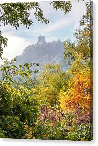 Canvas Print featuring the photograph Winona Mn Souvenir Rainbow Sugarloaf by Kari Yearous