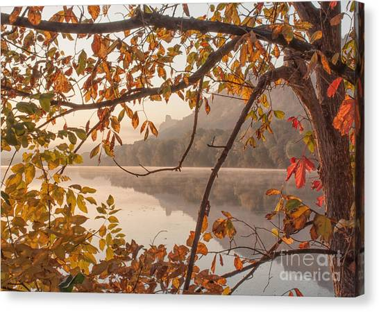 Winona Photograph Sugarloaf Through Leaves Canvas Print