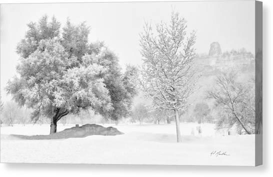 Winona Snowstorm Canvas Print