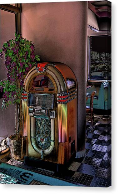Jukebox Canvas Print - Winsteads Jukebox by Tim McCullough