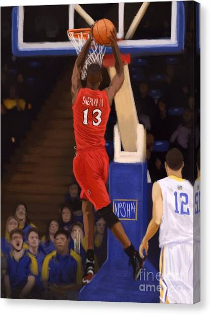 San Jose State University Canvas Print - Winston Shepard by Jeremy Nash