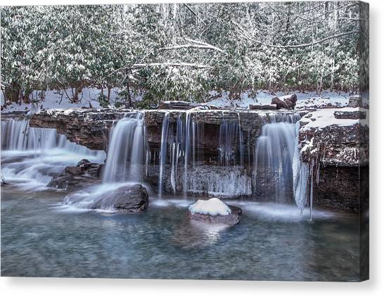 Winter A Camp Creek Canvas Print