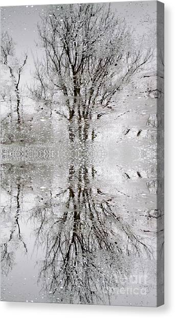 Winter Abstract Canvas Print