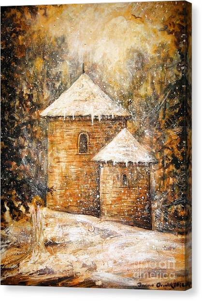 Winter Angel Canvas Print